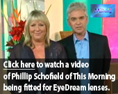Click here to watch a video of Phillip Schofield of This Morning being fitted for Ortho-K lenses.